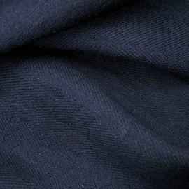 Coupon Lainage léger polyester et Laine 2m10 en 138cm bleu foncé n°529