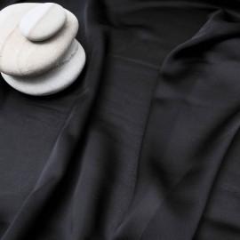 Au mètre soie légère noire Balmain en 140cm n°10417