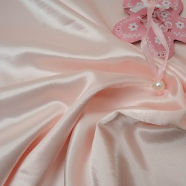 Coupon Satin rose bonbon envers flanelle 1m75 en 150cm n°10418