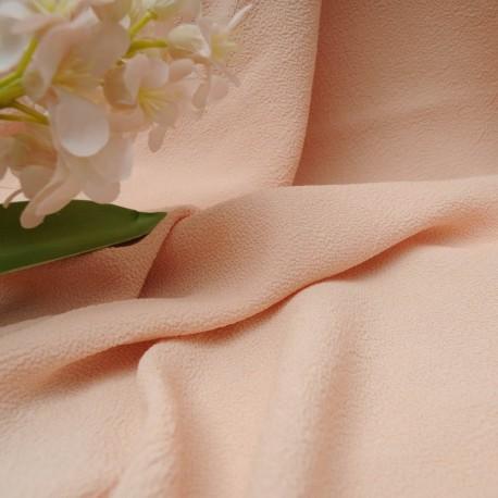 au mètre tissu Crêpe Coton rose poudré en 125cm n°10429