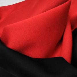 Coupon type néoprène polyester rouge envers noir 95cm par 58cm n°10431