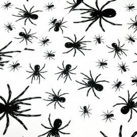 Coton OEKO TEX araignée noire blanc en 160cm