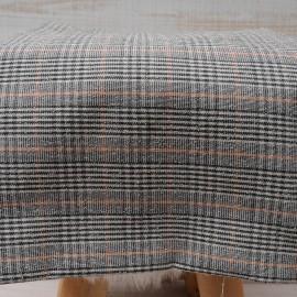 Coupon crêpe polyester et Coton beige orange écru 1m en 140cm n°10470