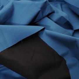 Coupon Toile coton stretch façon enduit bleu n° 534