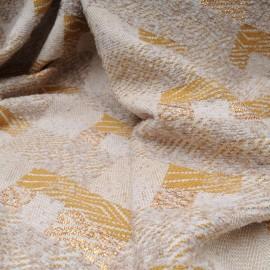 Au mètre lainage tissé beige doré en 150cm n°10471