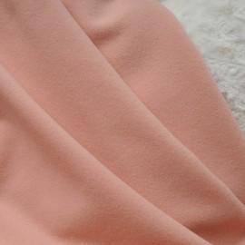 Coupon drap de laine rose pêche 1m30 en 150cm n°10492