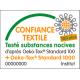 Coton OEKO TEX mini étoile marron fond vanille en 160cm