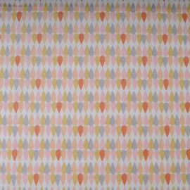 Mini Coupon Coton enduit PLIMA, double enduction 50cm x 78 cm
