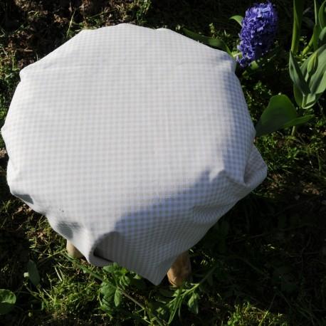 Tissu Coton vichy Beige 3mm n°547F6