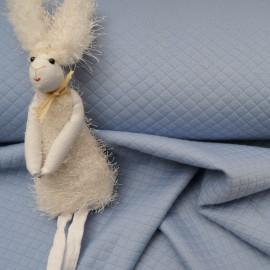 Tissu Jersey Matelassé au mètre bleu en 135cm n°10520
