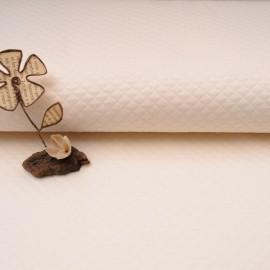 Tissu Jersey Matelassé au mètre écru en 135cm n°10522