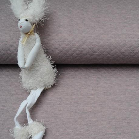 Tissu Jersey Matelassé au mètre rose chiné en 135cm n°10521