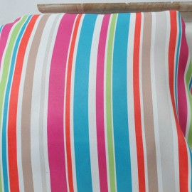Coupon BAYADERE Rose Toile Polyester 200cm en 140cm