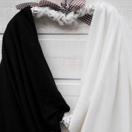 Au mètre Jersey coton noir côtelé en 170cm n°10426