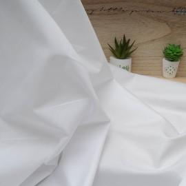 Au mètre Coton blanc uni en 150cm n°10561