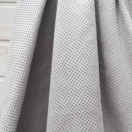 Suédine grise perforée au mètre en 150cm n°10567