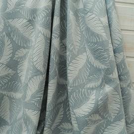 """Coupon Ameublement Toile Polyester """"Feuille tropique """"vert pâle 2m20 en 135cm"""