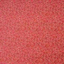 Tissu Coton cretonne imprimé fleuri FRAISE en 150cm