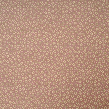 Tissu Coton cretonne imprimé floral rose en 150cm
