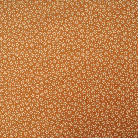 Tissu Coton cretonne imprimé floral safran en 150cm
