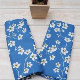 """Mini coupon toile coton """"Amandier bleu"""" 50x 75cm"""