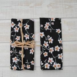 """Mini coupon toile coton """"Amandier Noir"""" 50x 75cm"""