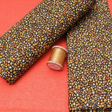 """Mini coupon toile coton """"Vic Mirabelle"""" 50x 75cm"""