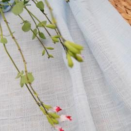 Au mètre coton seersucker bleu layette en 140cm n°10605