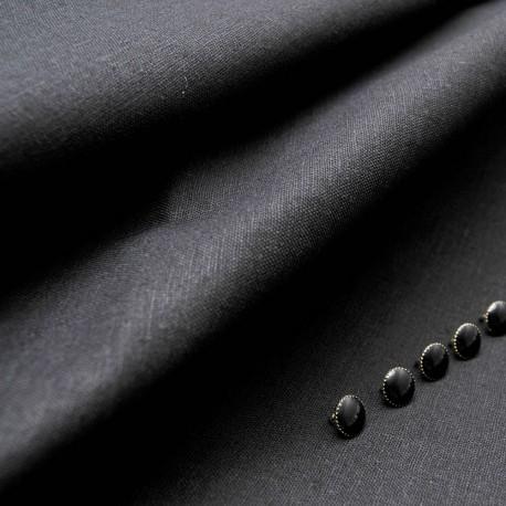 Tissu au mètre LIN Coton noir en 135 cm n° 10617
