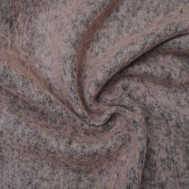 Tissu au mètre Laine bouillie chinée couleur Vieux rose en 160cm n°10629