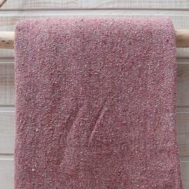 Au mètre sweat bouclette chiné rose gris en 120cm n°10644