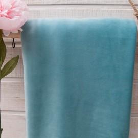 Au mètre tissu velours éponge bleu turquoise en 170cm n°10645