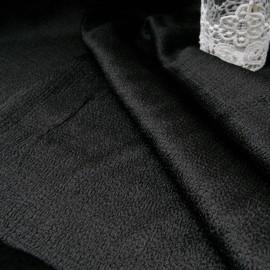 Coupon magnifique tissu texturé noir 2m20 en 130cm n°10659