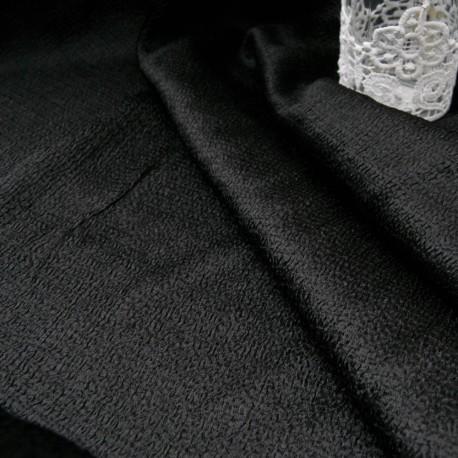 Au mètre magnifique tissu gaufré noir en 130cm n°10659