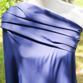 Satin de soie bleu outremer au mètre en 150cm n°641