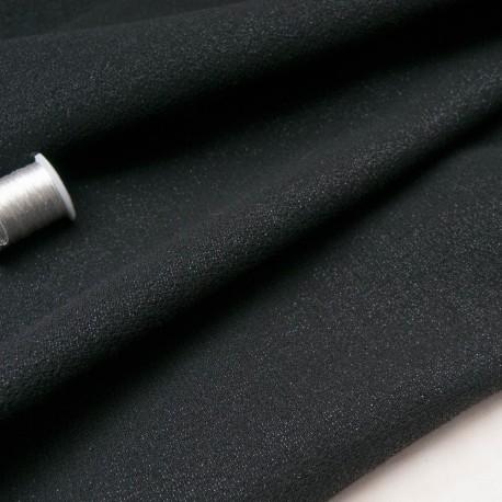 Au mètre lainage noir pailleté BALMAIN en 140cm n°10656
