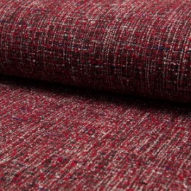 Au mètre tweed polyester type chanel rouge en 145cm n°10661