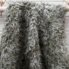 Au mètre fourrure poil long camaieu de vert en 155cm n°10668