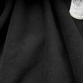 Au mètre drap de laine noir en 150cm n°10182
