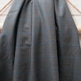 Coupon Prince de Galles gris bleu Viscose 80cm en 155cm n°10701