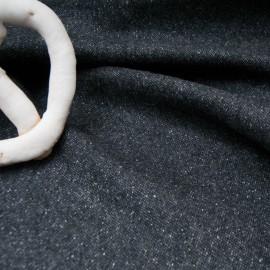 Coupon Lainage noir chiné gris blanc Haut de gamme 1m95 en 155cm n°10703