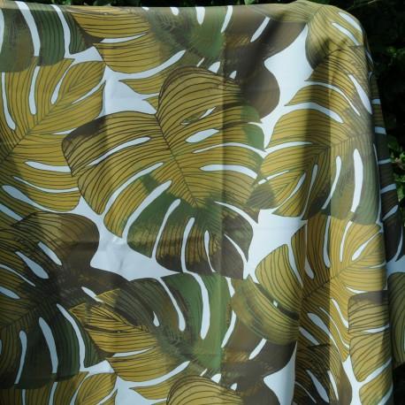 Coupon Toile Polyester Ameublement Jungle 3m50 par 195cm