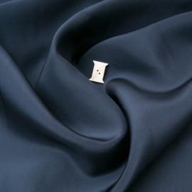 Au mètre Organza de soie Sonia Rykiel bleu nuit en 140cm n°10712