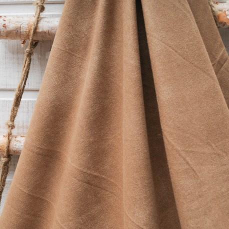 Au mètre tissu suédine couleur camel en 155cm n°10581