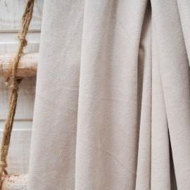 Au mètre tissu suédine couleur sable en 145cm n°10582