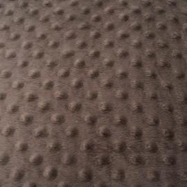 Coupon Tissu Minky marron 60cm en 145cm n°862