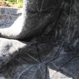 Toile Jean noir délavé ,épais polycoton au Mètre en 155cm n°549