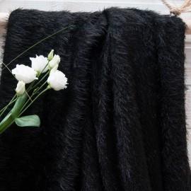 Maille légère noire poils longs en 145cm n°10737