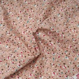 Tissu popeline viscose au mètre GRETA ROSE Oekotex imprimé fleuri en 140cm