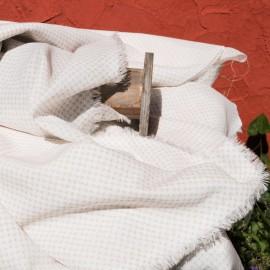 Voile de Coton fond ivoire en 140cm au mètre n°647